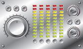 Hi-fi med led equalizer — Stockvektor