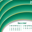Royalty-Free Stock Vector Image: December 2011 wave calendar