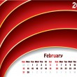 Royalty-Free Stock Vector Image: February 2011 wave calendar