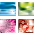 Stock Vector: Colorful business card set