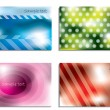 Colorful business card set — Stock Vector