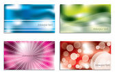 Colorful business card set — Wektor stockowy