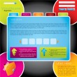 Colorful design web template — Image vectorielle