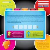 Modèle web design coloré — Vecteur