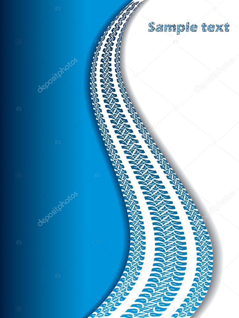 Cool blue background with tire tracks  Stock Vector #3817020