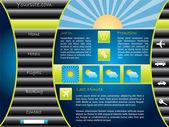 Touristic website template — Stock Vector