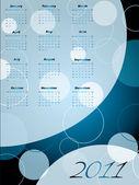 2011 dotted calendar — Stock Vector