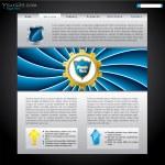 Shielded website template — Stock Vector
