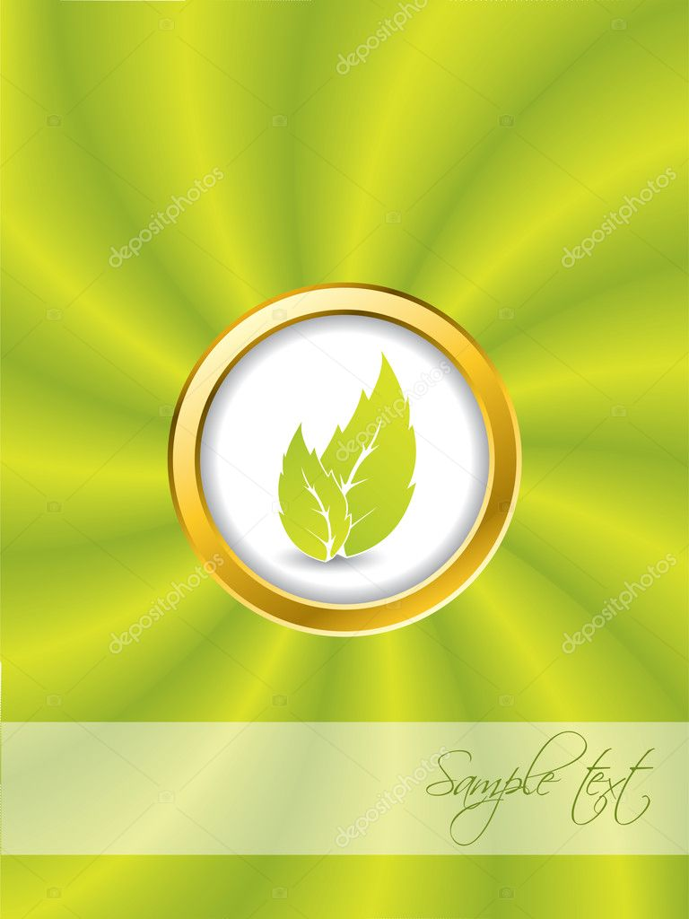 Bio ring with swirling green background — Stock Vector #3863144