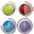 Set of 4 timers — Vector de stock