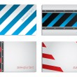 Striped business card set — Stock Vector