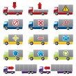 Stock Vector: Truck icons for web