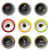 Speedometers for downloads — Stock Vector