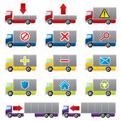 Truck icons for the web — Stock Vector
