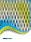 Ondas de cor com fundo pontilhada — Vetorial Stock
