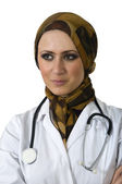 Muslim nurse — Stock Photo