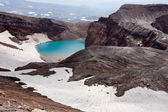 In crater of the volcano — Foto Stock
