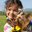Stock Photo: Child and dog