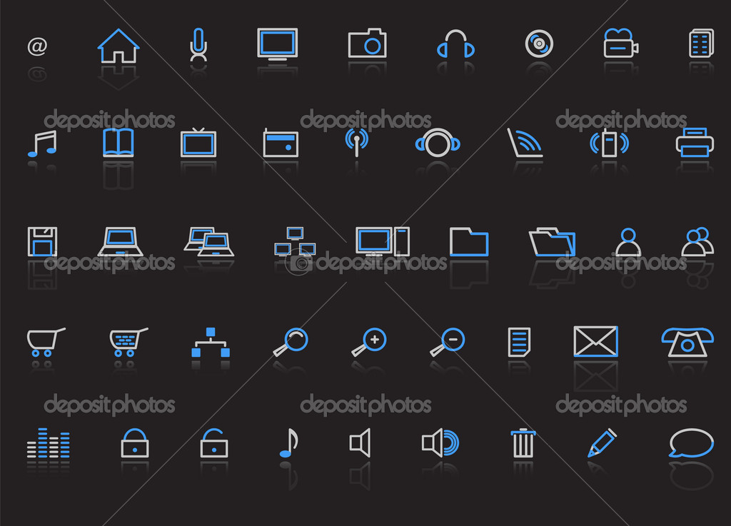 Web icons, internet, vector illustration — Stock Vector #2783130