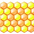 Stock Vector: Honeycombs