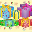 Royalty-Free Stock Vector Image: Much boxes for gifts