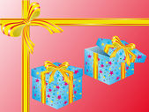 Two boxes for gifts — Stock Vector