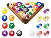Balls for billiards — Stock Vector