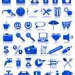 Blue icons — Stock Vector