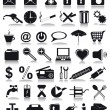 Stock Vector: Black icons