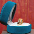 Stock Photo: Weddings rings in blue box