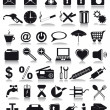 Stock Photo: Black icons