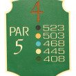 Isolated golf par 5 sign — Stock Photo