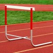 Stock Photo: Track hurdle