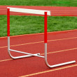 Track hurdle — Stock Photo