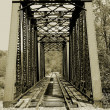 Old train trestle - Stock Photo