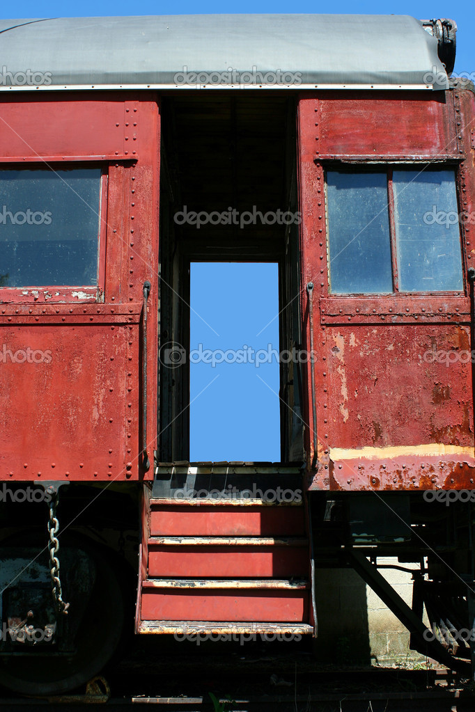 A Old passenger train car — Stock Photo #3095775