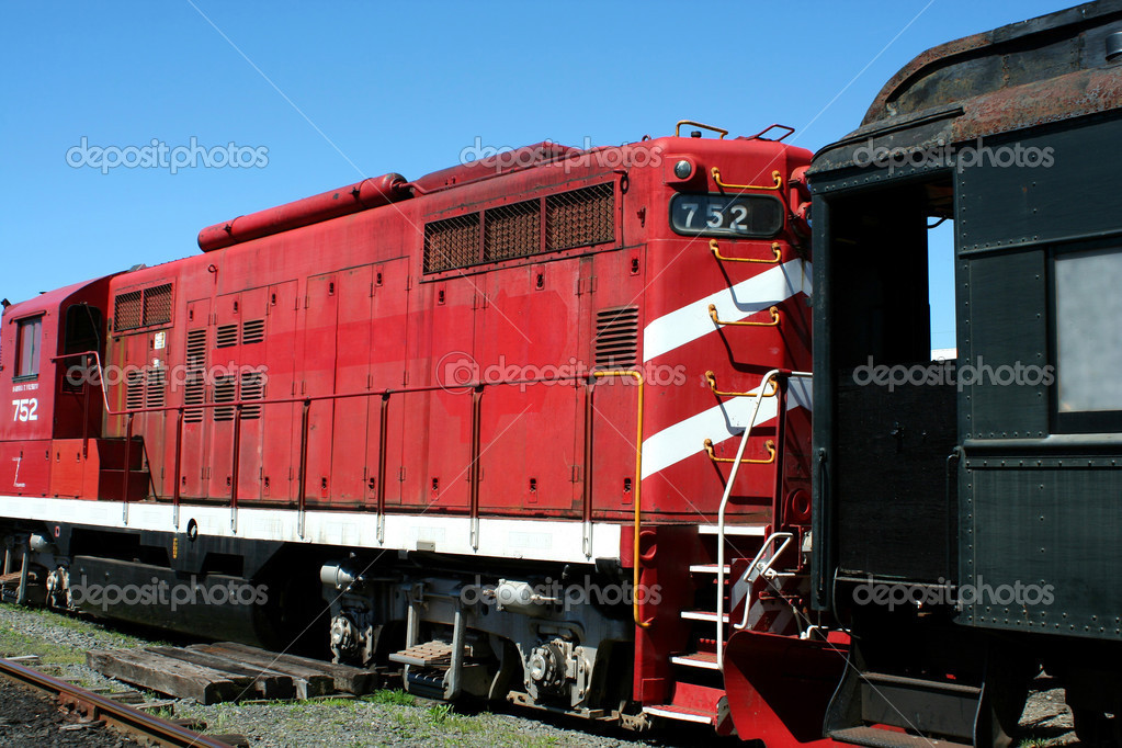 A Old train locomotive — Stock Photo #3095796