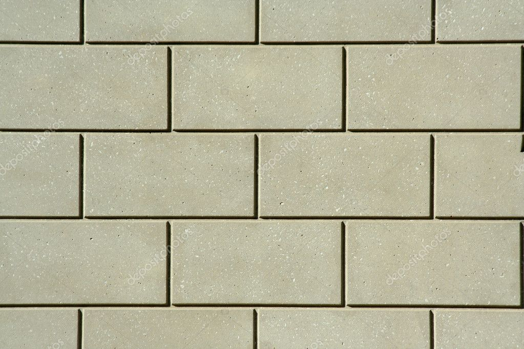 Concrete block wall - Stock Image