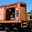 Old train locomotive — Stock Photo