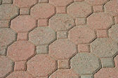 Brick pavers background texture — Stock Photo