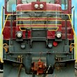 Stock Photo: Front of a a old train locomotive