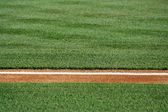 Baseline on a baseball field — Stock Photo