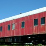 Old passenger train car — Stock Photo