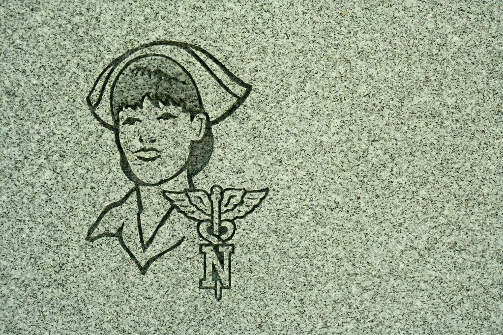 A Stone carving of a nurse — Stock Photo #3599007