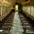 Old abandoned passenger train car — Stock Photo