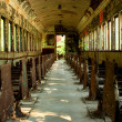 Old abandoned passenger train car — Foto de stock #3833219