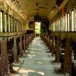 Old abandoned passenger train car — Stock Photo