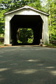 Green Sergeant Covered Bridge — Stock Photo
