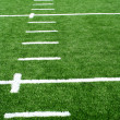 Astro turf football field — Stock Photo