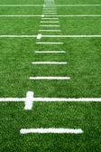 Astro turf football field — Stock Photo